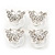 Bridal/ Wedding/ Prom/ Party Set Of 4 Rhodium Plated Crystal 'Butterfly' Spiral Twist Hair Pins - view 5