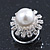 Bridal/ Wedding/ Prom/ Party Set Of 4 Rhodium Plated Crystal Glass Pearl Spiral Twist Hair Pins - view 2