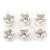 Bridal/ Wedding/ Prom/ Party Set Of 6 Rhodium Plated Crystal Simulated Pearl Floral Spiral Twist Hair Pins - view 2