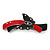 Black/ Red Acrylic Crystal Butterfly Barrette Hair Clip Grip - 95mm Across - view 7