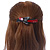 Black/ Red Acrylic Crystal Butterfly Barrette Hair Clip Grip - 95mm Across - view 2