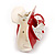 Red, White Acrylic Crystal 'Dog' Hair Claw - 60mm Width - view 7
