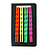 Set Of 4 Pair Hair Grips/ Slides In Neon Orange/ Neon Green/ Neon Yellow/ Neon Pink