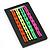 Set Of 4 Pair Hair Grips/ Slides In Neon Orange/ Neon Green/ Neon Yellow/ Neon Pink - view 2