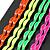 Set Of 4 Pair Hair Grips/ Slides In Neon Orange/ Neon Green/ Neon Yellow/ Neon Pink - view 3