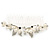 Bridal/ Wedding/ Prom/ Party Rhodium Plated Clear Crystal Simulated Pearl Double Butterfly Hair Comb - 95mm - view 7