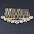 Bridal/ Wedding/ Prom/ Party Gold Plated Clear Crystal, Light Cream Faux Pearl Hair Comb - 95mm - view 9