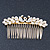 Bridal/ Wedding/ Prom/ Party Gold Plated Clear Crystal, Simulated Pearl 'Double Peacock' Hair Comb - 95mm - view 8