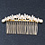Bridal/ Wedding/ Prom/ Party Gold Plated Clear Crystal, Simulated Pearl Butterfly Hair Comb - 95mm - view 10
