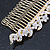Bridal/ Wedding/ Prom/ Party Gold Plated Clear Austrian Crystal Hair Comb - 100mm - view 4