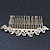 Bridal/ Wedding/ Prom/ Party Gold Plated Clear Austrian Crystal Hair Comb - 100mm - view 5