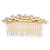 Bridal/ Wedding/ Prom/ Party Gold Plated Clear Austrian Crystal Hair Comb - 100mm - view 6