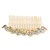 Bridal/ Wedding/ Prom/ Party Gold Plated Clear Austrian Crystal Hair Comb - 100mm - view 8