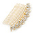 Bridal/ Wedding/ Prom/ Party Gold Plated Clear Austrian Crystal Hair Comb - 100mm - view 2