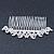 Bridal/ Wedding/ Prom/ Party Rhodium Plated Clear Austrian Crystal Hair Comb - 100mm