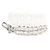 Bridal/ Wedding/ Prom/ Party Rhodium Plated Crystal Flower And Simulated Pearl Leaf Hair Comb - 95mm - view 2