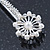 2 Bridal/ Prom Crystal, Simulated Pearl Filigree Flower Hair Grips/ Slides In Rhodium Plating - 55mm Across - view 4