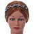 Black Acrylic Alice/ Hair Band/ HeadBand With Clear Crystal Leaf Motif - view 6