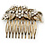 Vintage Inspired Bridal/ Wedding/ Prom/ Party Austrian Clear Crystal 'Leaves & Flowers' Hair Comb In Antique Gold Metal - 80mm - view 8