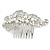 Bridal/ Wedding/ Prom/ Party Rhodium Plated Clear Crystal, Simulated Pearl 'Feather' Hair Comb - 100mm - view 9