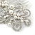 Bridal/ Wedding/ Prom/ Party Rhodium Plated Clear Crystal, Simulated Pearl 'Feather' Hair Comb - 100mm - view 7