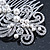 Bridal/ Wedding/ Prom/ Party Rhodium Plated Clear Crystal, Simulated Pearl 'Feather' Hair Comb - 100mm - view 5