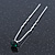 3pcs Bridal/ Wedding/ Prom/ Party Emerald Green Crystal Hair Pin Set In Silver Tone - 70mm L - view 2