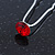 3pcs Bridal/ Wedding/ Prom/ Party Red Crystal Hair Pins In Silver Tone - 70mm L - view 3