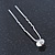 3pcs Bridal/ Wedding/ Prom/ Party Clear Crystal Hair Pins In Silver Tone - 70mm L - view 6