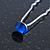 Bridal/ Wedding/ Prom/ Party Single Sapphire Blue Crystal Hair Pin In Silver Tone - 70mm L - view 6