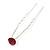3pcs Bridal/ Wedding/ Prom/ Party Fuchsia Crystal Hair Pins In Silver Tone - 70mm L - view 8