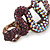 Violet/ Deep Purple/ Ab Coloured Austrian Crystal Snake Hair Beak Clip/ Concord Clip In Bronze Tone - 65mm L - view 4
