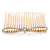 Bridal/ Wedding/ Prom/ Party Gold Plated Clear Crystal, Light Cream Faux Pearl Bow Hair Comb - 80mm - view 2
