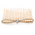 Bridal/ Wedding/ Prom/ Party Gold Plated Clear Crystal, Light Cream Faux Pearl Bow Hair Comb - 80mm - view 9