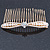 Bridal/ Wedding/ Prom/ Party Gold Plated Clear Crystal, Light Cream Faux Pearl Bow Hair Comb - 80mm - view 6
