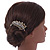 Vintage Inspired Clear Austrian Crystal 'Leaf' Side Hair Comb In Gold Tone - 70mm - view 3