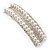 Bridal/ Wedding/ Prom Silver Tone Simulated Pearl Diamante Barrette Hair Clip Grip - 85mm Across - view 8