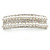 Bridal/ Wedding/ Prom Silver Tone Simulated Pearl Diamante Barrette Hair Clip Grip - 85mm Across - view 9