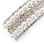 Bridal/ Wedding/ Prom Silver Tone Simulated Pearl Diamante Barrette Hair Clip Grip - 85mm Across - view 11