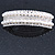 Bridal/ Wedding/ Prom Silver Tone Simulated Pearl Diamante Barrette Hair Clip Grip - 85mm Across - view 2