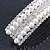 Bridal/ Wedding/ Prom Silver Tone Simulated Pearl Diamante Barrette Hair Clip Grip - 85mm Across - view 5