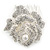 Bridal/ Wedding/ Prom/ Party Silver Tone Clear Austrian Crystal Rose Side Hair Comb - 60mm - view 8