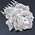 Bridal/ Wedding/ Prom/ Party Silver Tone Clear Austrian Crystal Rose Side Hair Comb - 60mm - view 10