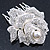 Bridal/ Wedding/ Prom/ Party Silver Tone Clear Austrian Crystal Rose Side Hair Comb - 60mm - view 1