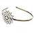 Bridal/ Wedding/ Prom Clear Crystal Flower Tiara Headband In Bronze Tone Metal - view 5