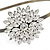 Bridal/ Wedding/ Prom Clear Crystal Flower Tiara Headband In Bronze Tone Metal - view 3