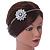 Bridal/ Wedding/ Prom Clear Crystal Flower Tiara Headband In Bronze Tone Metal - view 2