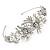 Statement Bridal/ Wedding/ Prom Rhodium Plated Clear Crystal, White Glass Flowers & Leaves Tiara Headband