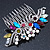 Bridal/ Wedding/ Prom/ Party Rhodium Plated Multicoloured Austrian Crystal, Faux Pearl Floral Hair Comb - 10cm W - view 12