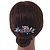 Bridal/ Wedding/ Prom/ Party Rhodium Plated Multicoloured Austrian Crystal, Faux Pearl Floral Hair Comb - 10cm W - view 2